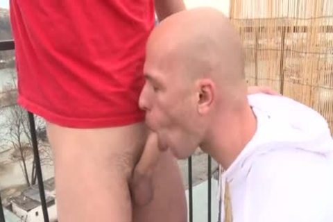 enormous dick Daddy Public Sex With Facial